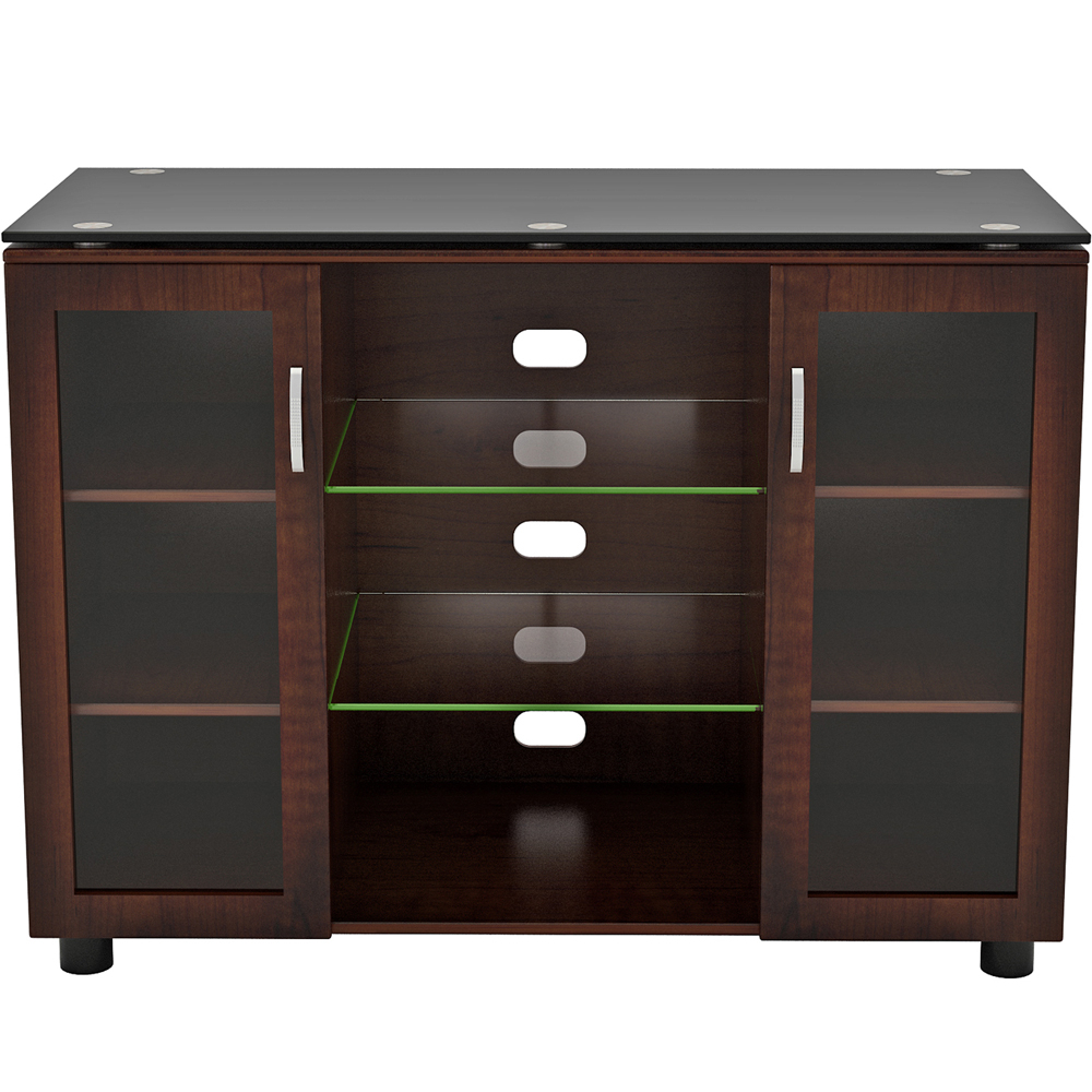 Wood And Glass Tv Stand – Merako Highboy In Tv Stands Inside Glass Shelves Tv Stands (View 18 of 20)