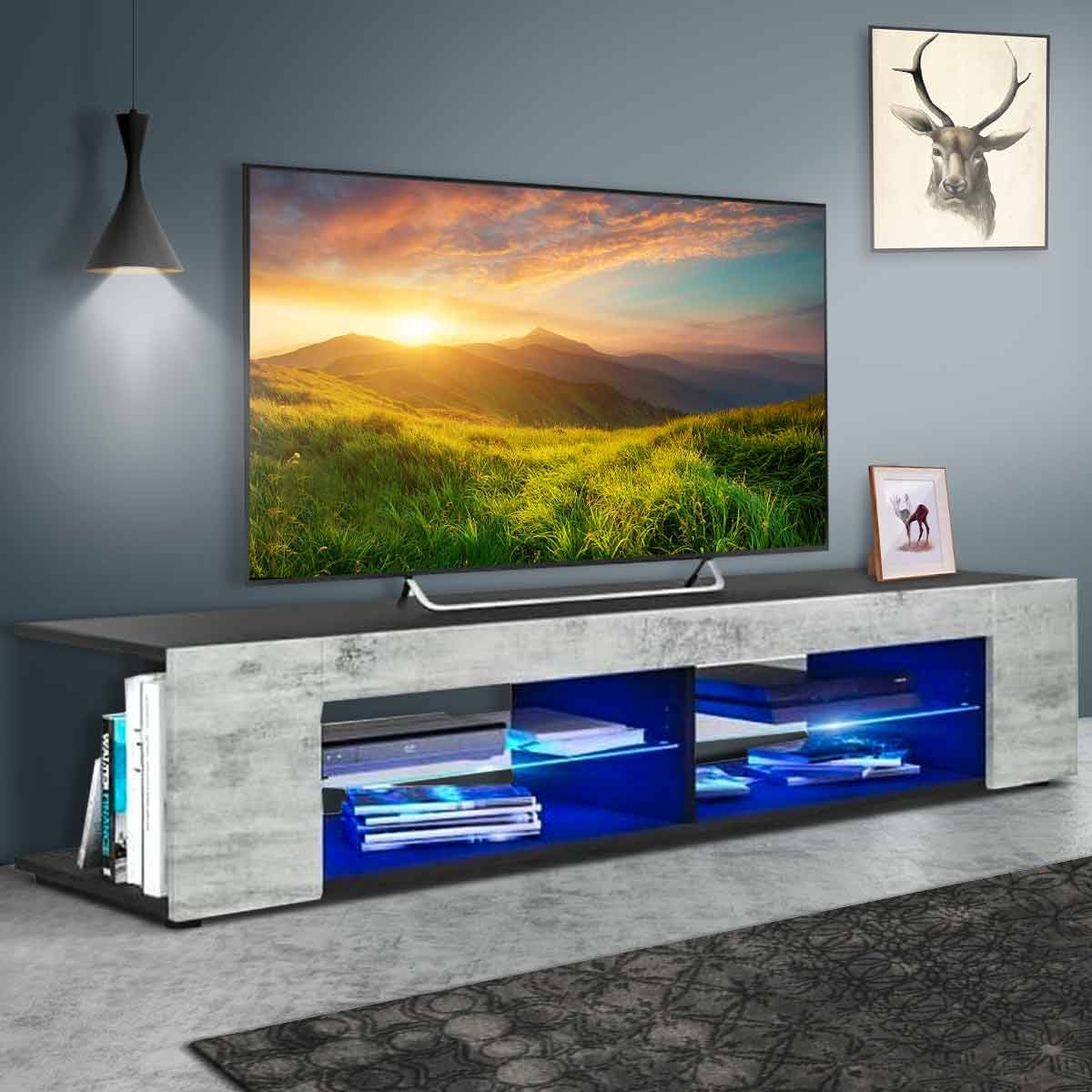 """Wood Tv Media Storage Stand For Tvs Up To 65 Media Console With Tv Mount And Tv Stands For Tvs Up To 65"""" (View 16 of 20)"""