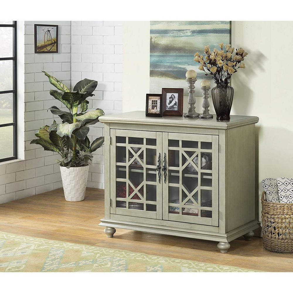 Wooden Tv Stand With Bun Feet, Antique Silver With Bromley Slate Tv Stands (View 7 of 20)