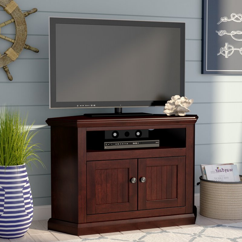 """World Menagerie Didier Corner Tv Stand For Tvs Up To 43 Inside Maubara Tv Stands For Tvs Up To 43"""" (View 5 of 20)"""