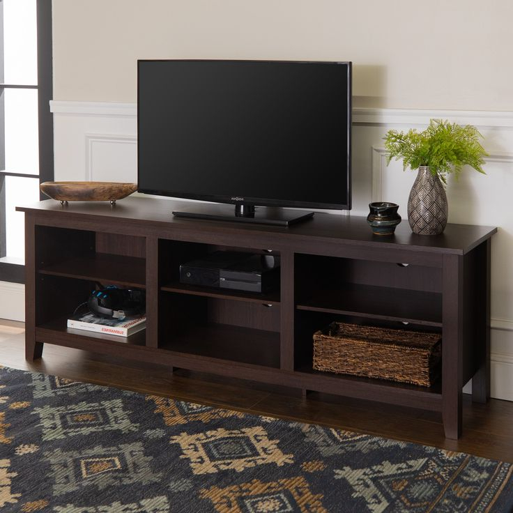Woven Paths Open Storage Tv Stand For Tvs Up To 80 Regarding Woven Paths Open Storage Tv Stands With Multiple Finishes (View 1 of 20)