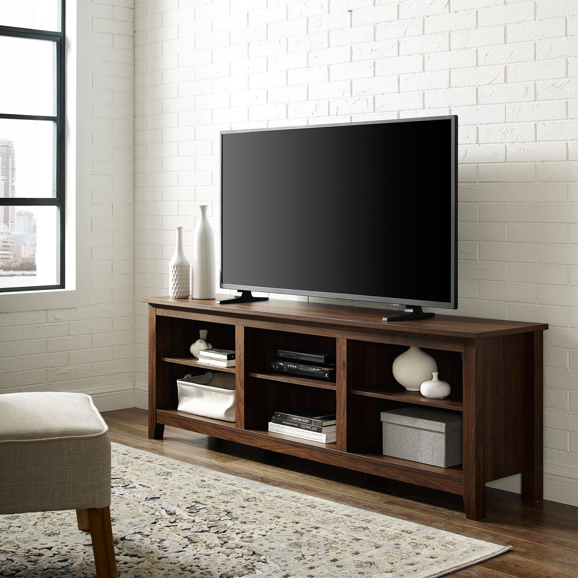 Woven Paths Open Storage Tv Stand For Tvs Up To 80 With Regard To Woven Paths Open Storage Tv Stands With Multiple Finishes (View 2 of 20)