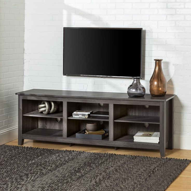 Woven Paths Open Storage Tv Stand For Tvs Up To 80 With Woven Paths Open Storage Tv Stands With Multiple Finishes (View 8 of 20)