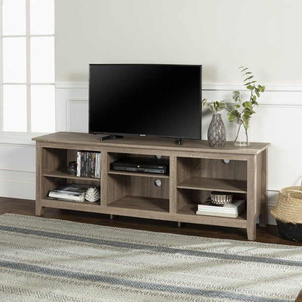 Woven Paths Open Storage Tv Stand For Tvs Up To 80 Within Woven Paths Open Storage Tv Stands With Multiple Finishes (View 9 of 20)