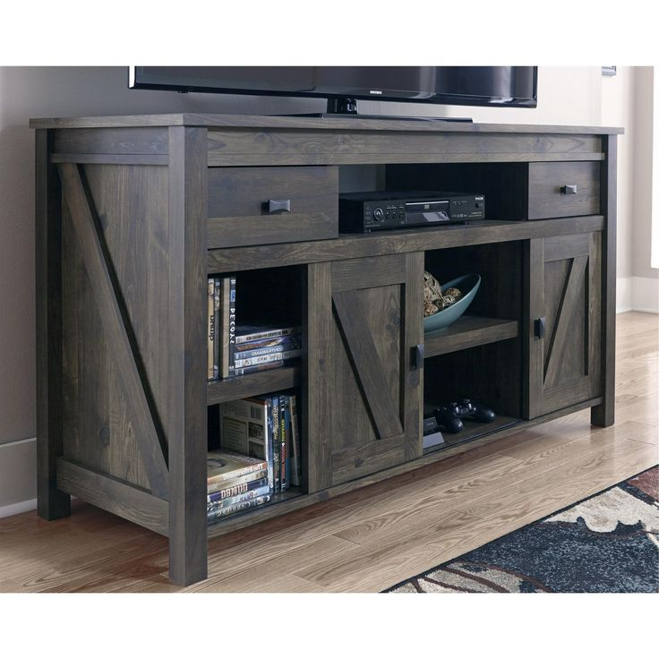 Woven Paths Scandi Farmhouse Tv Stand For Tvs Up To 60 Inside Woven Paths Barn Door Tv Stands In Multiple Finishes (View 14 of 20)