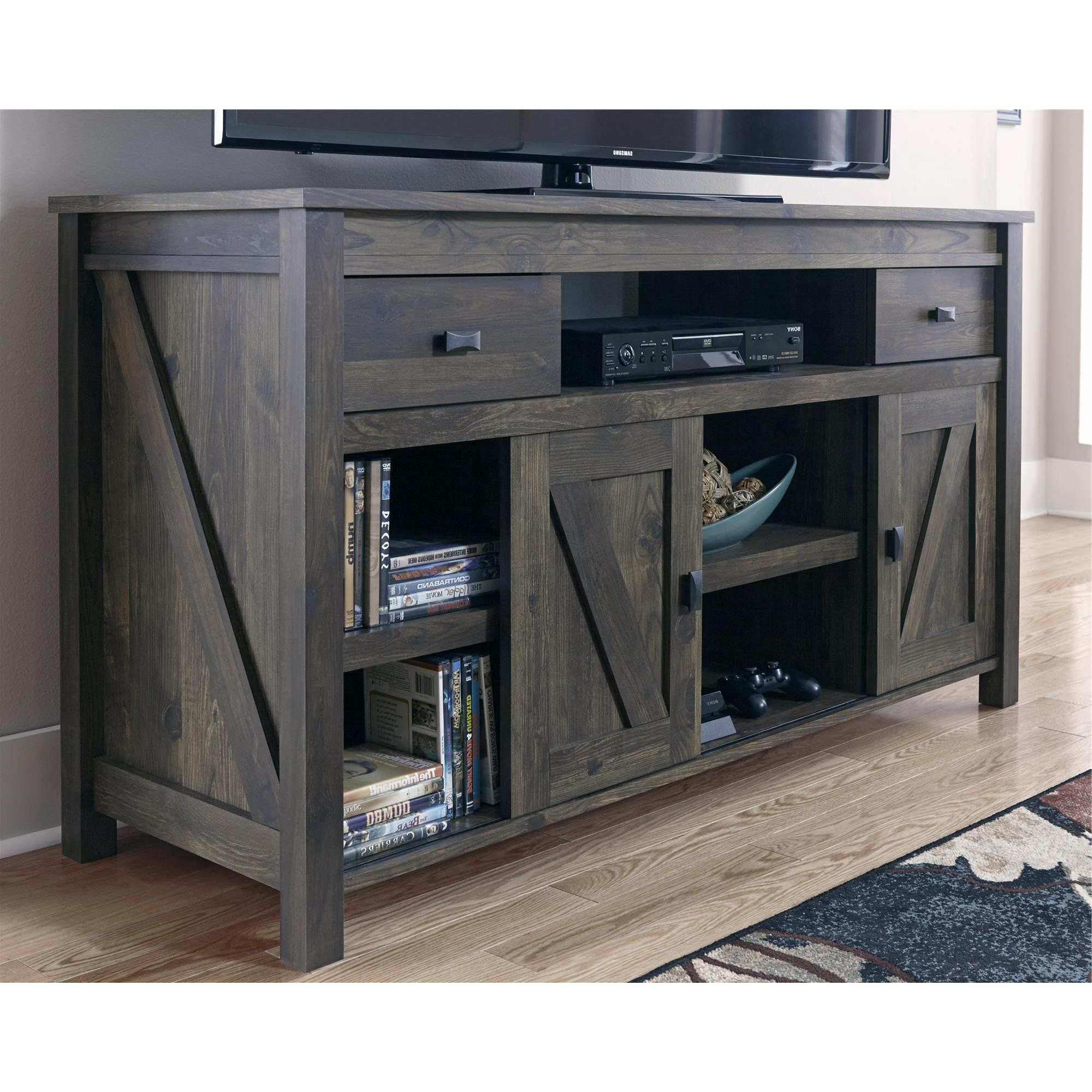 Woven Paths Scandi Farmhouse Tv Stand For Tvs Up To 60 With Woven Paths Barn Door Tv Stands In Multiple Finishes (View 15 of 20)