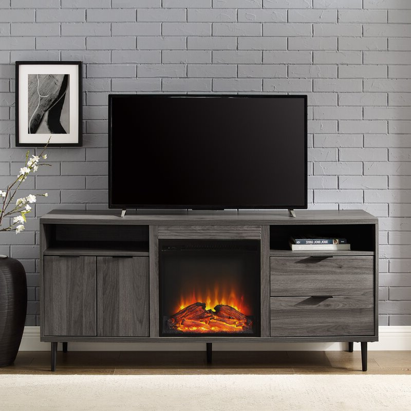 """Wrought Studio Eglinton Tv Stand For Tvs Up To 65"""" With Regarding Rickard Tv Stands For Tvs Up To 65"""" With Fireplace Included (View 5 of 20)"""