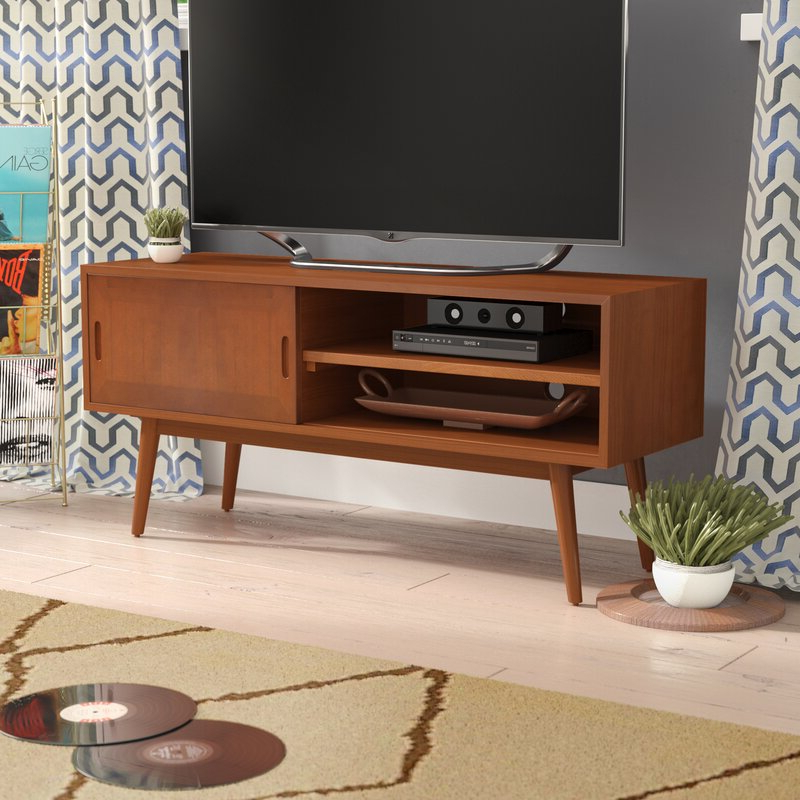 """Wrought Studio Staveley Solid Wood Tv Stand For Tvs Up To Throughout Solid Wood Tv Stands For Tvs Up To 65"""" (View 3 of 20)"""