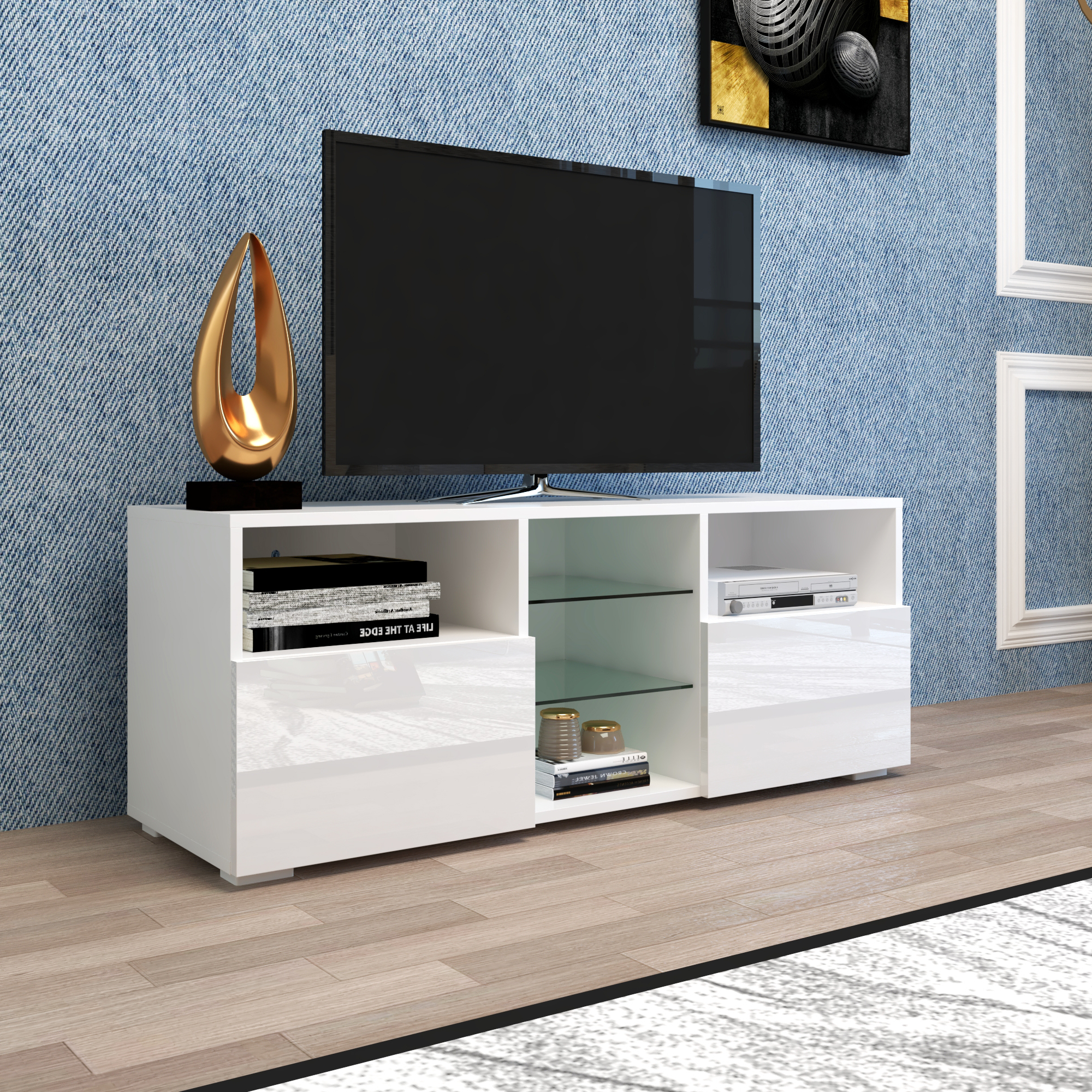 """Yofe Tv Entertainment Center For Up To 65 Inch Tv, High In Neilsen Tv Stands For Tvs Up To 65"""" (View 3 of 20)"""