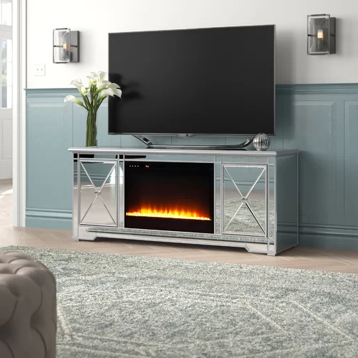 """Zariyah Solid Wood Tv Stand For Tvs Up To 70"""" With Throughout Chicago Tv Stands For Tvs Up To 70"""" With Fireplace Included (View 8 of 20)"""