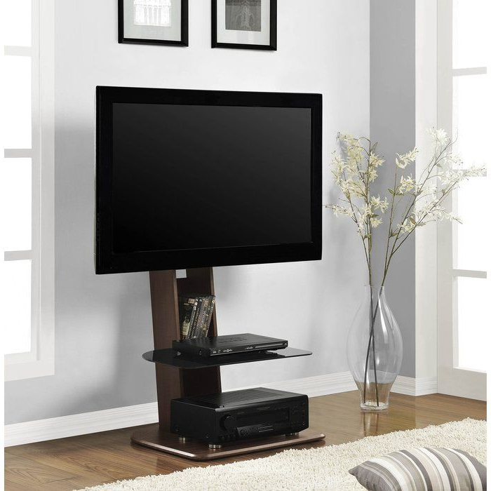"Zipcode™ Design Bridgette 50"" Tv Stand & Reviews   Wayfair Inside Whalen Shelf Tv Stands With Floater Mount In Weathered Dark Pine Finish (View 2 of 20)"