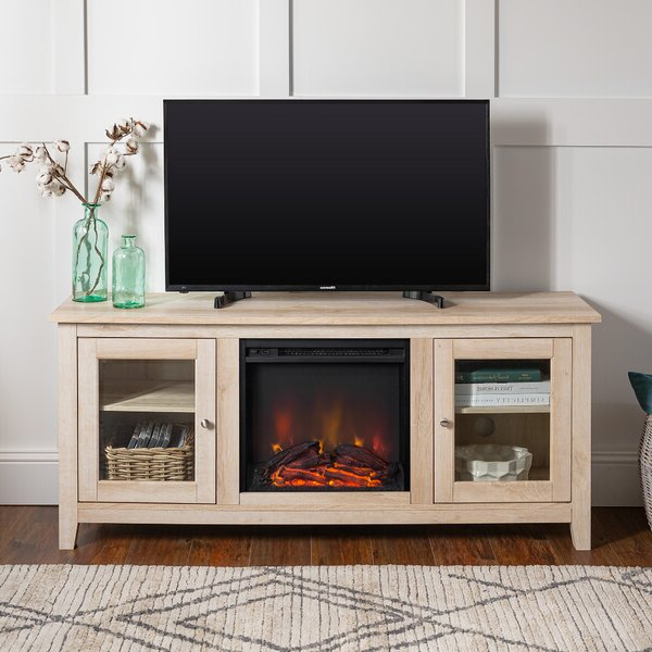 """Zipcode Design™ Kohn Tv Stand For Tvs Up To 65"""" With With Regard To Hetton Tv Stands For Tvs Up To 70"""" With Fireplace Included (View 10 of 20)"""