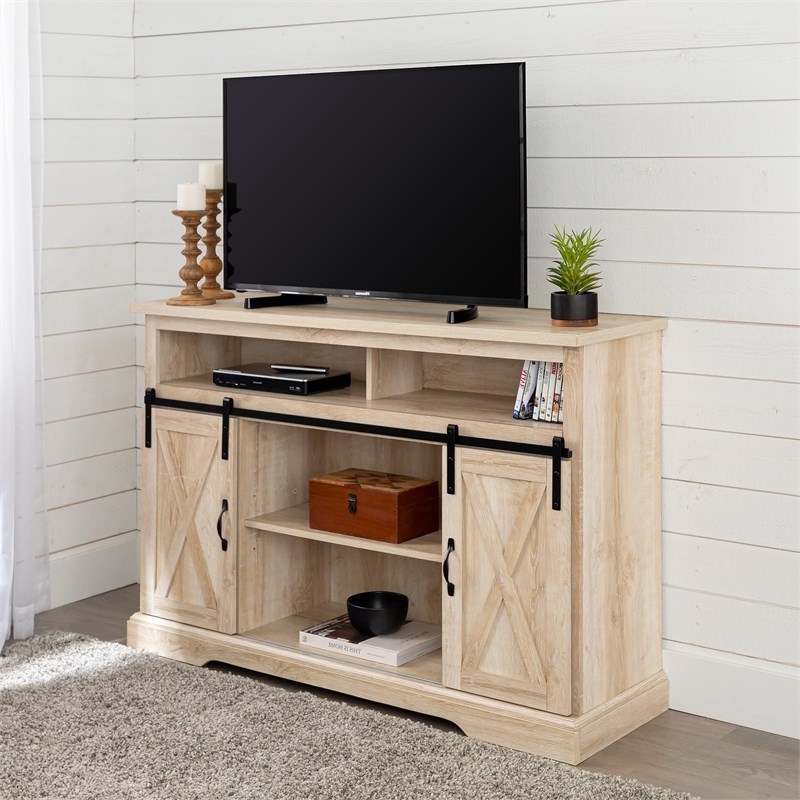 """52"""" Modern Farmhouse Tv Stand With Sliding Barndoors With Regard To Better Homes & Gardens Modern Farmhouse Tv Stands With Multiple Finishes (View 6 of 31)"""