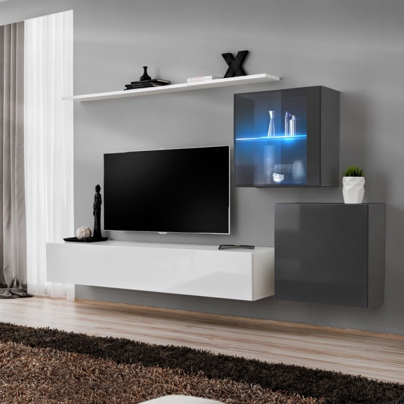 Bmf Switch Xv Wall Unit 250cm Wide Tv Stand One Display Pertaining To Better Homes & Gardens Oxford Square Tv Stands With Multiple Finishes (View 17 of 20)