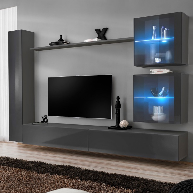 Bmf Switch Xviii Wall Unit 280cm Wide Tv Stand Shelf Two Throughout Square Tv Stands (View 10 of 20)