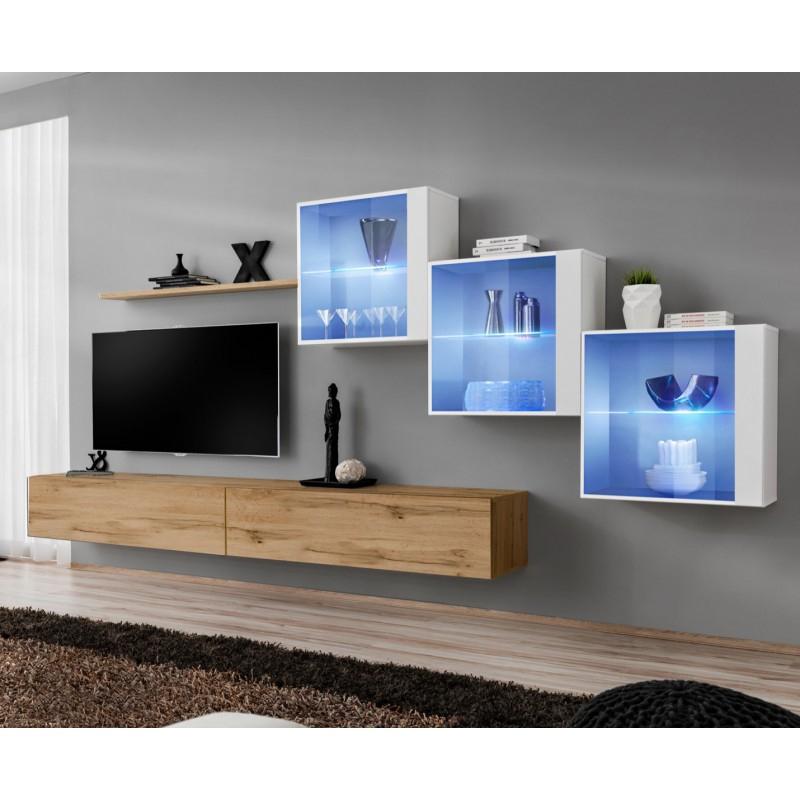 Bmf Switch Xx Wall Unit 330cm Wide Tv Stand Shelf Three For Square Tv Stands (View 16 of 20)