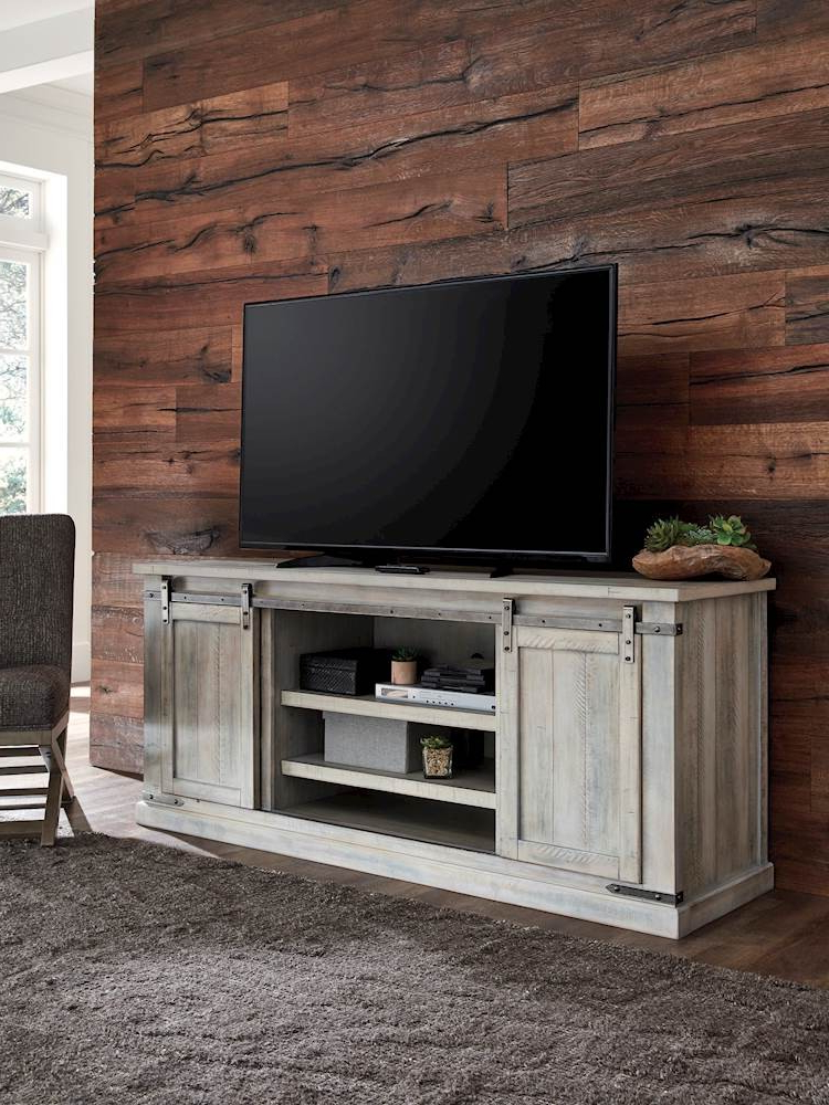 Carynhurst Whitewash Extra Large Tv Stand With Regard To Delta Large Tv Stands (View 6 of 15)