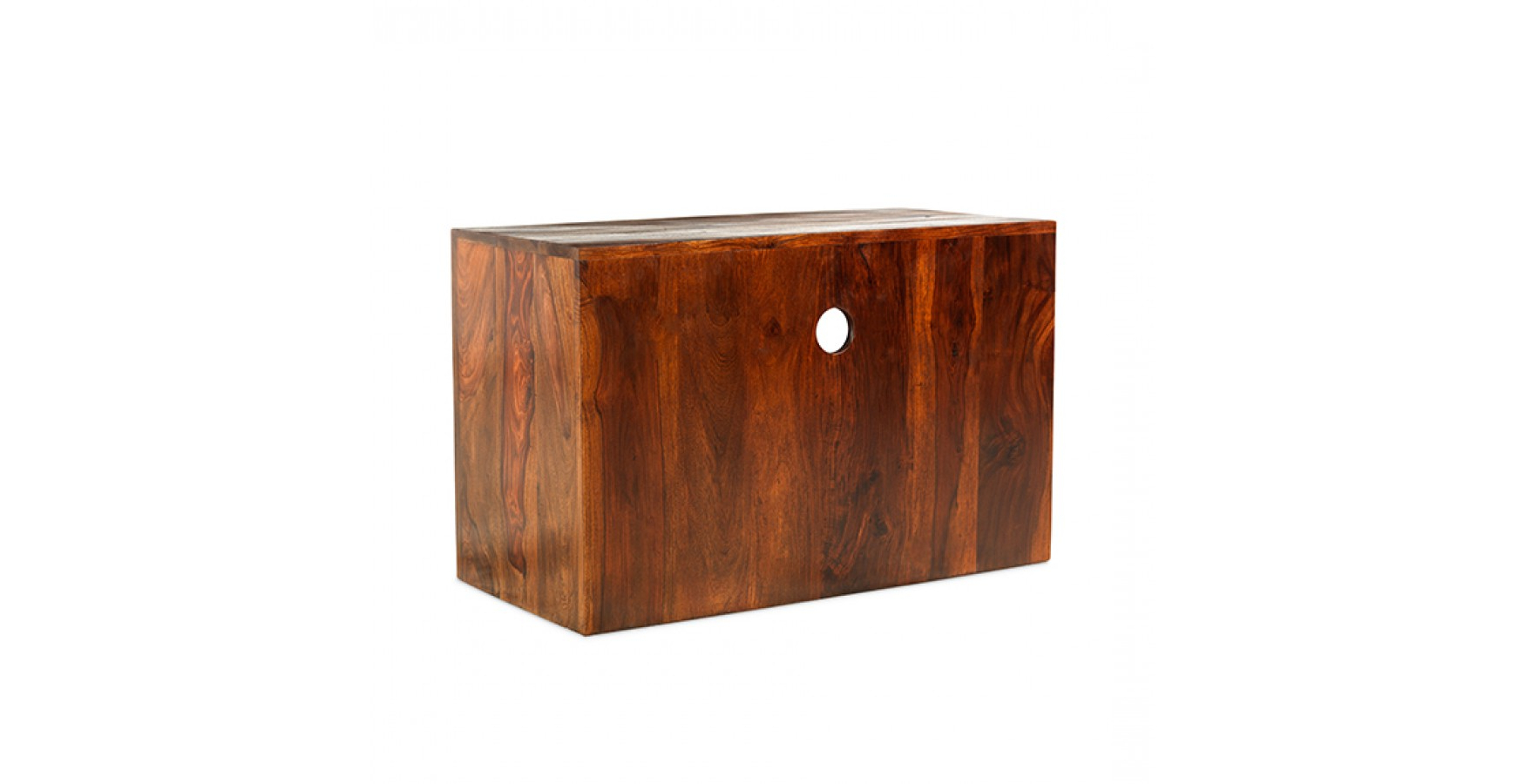 Cuba Sheesham Square Tv Stand – Lifestyle Furniture Uk For Square Tv Stands (View 4 of 20)
