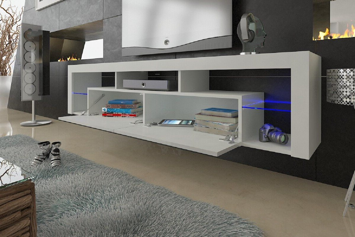"""Floating Milano Tv Stand For Tvs Up To 90""""   Modern Tv Throughout Bari 160 Wall Mounted Floating 63"""" Tv Stands (View 14 of 27)"""