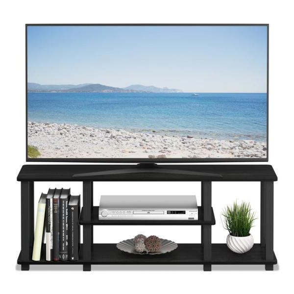 Furinno Turn S Tube Americano/black No Tools 3d 3 Tier With Regard To Square Tv Stands (View 8 of 20)