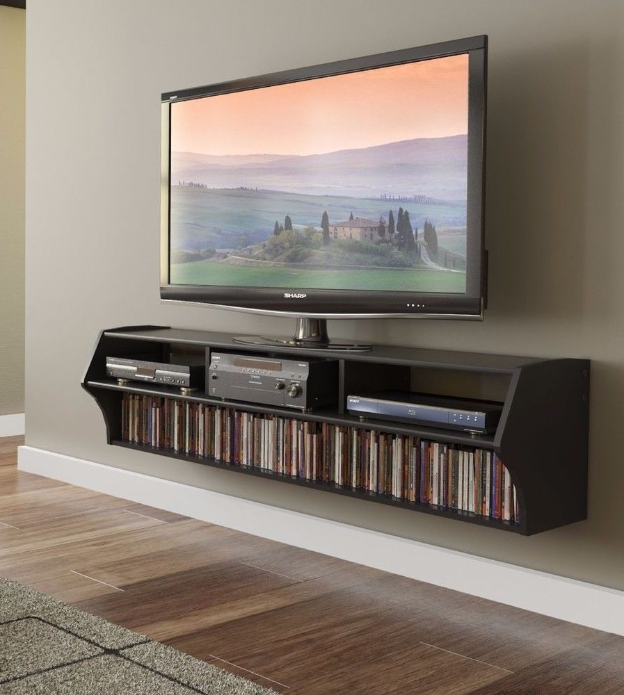 """Home & Garden 58 Altus Floating Wall Mounted Console Tv Regarding Bari 160 Wall Mounted Floating 63"""" Tv Stands (View 6 of 27)"""