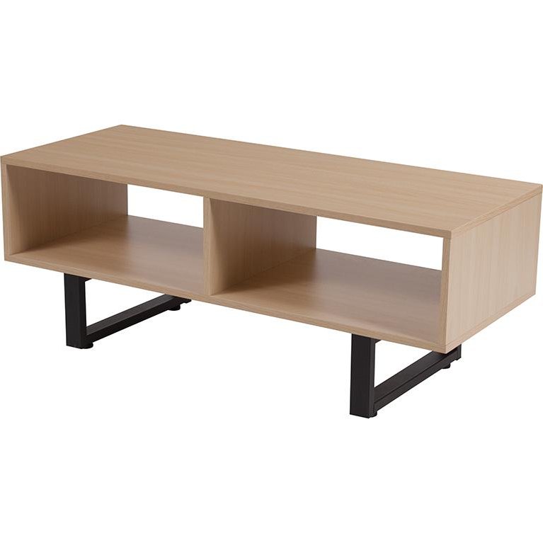 Hyde Square Collection Beech Wood Grain Finish Tv Stand For Square Tv Stands (View 5 of 20)