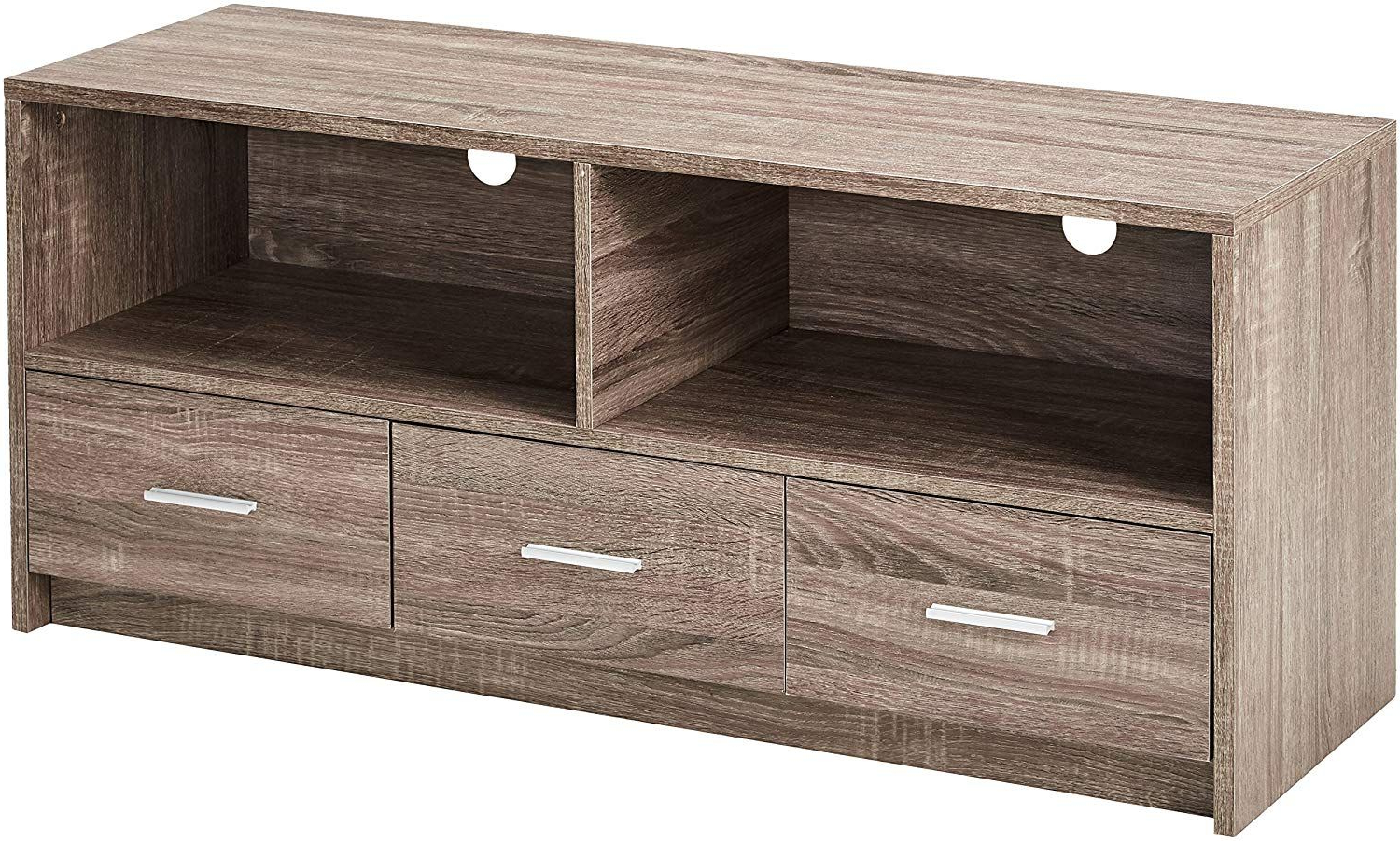 Kings Brand Furniture Wood Tv Stand, Grey | Tv Stand Wood For Covent Tv Stands (View 3 of 16)