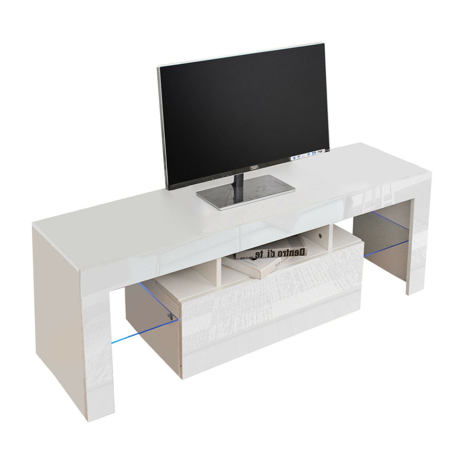 Modern 130/160 Tv Unit Cabinet Tv Stand – Matt Body & High Intended For Tv Stands High Gloss Front (View 4 of 17)