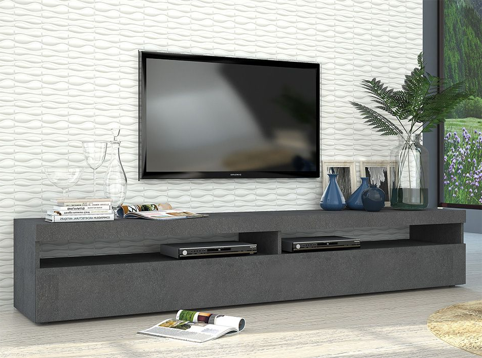 Modern Tv Stand Burta Large   Graphite – $620   Modern Tv Intended For Delta Large Tv Stands (View 10 of 15)
