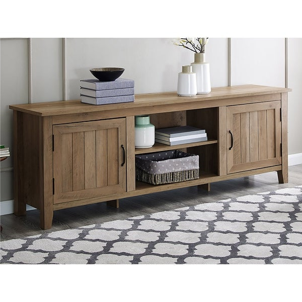 """Offex 70"""" Modern Farmhouse Console Tv Stand With Side Intended For Better Homes & Gardens Modern Farmhouse Tv Stands With Multiple Finishes (View 15 of 31)"""
