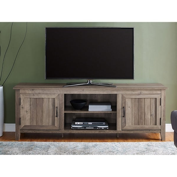 """Shop 70"""" Modern Farmhouse Console Tv Stand With Side Within Modern Farmhouse Tv Stands (View 13 of 31)"""