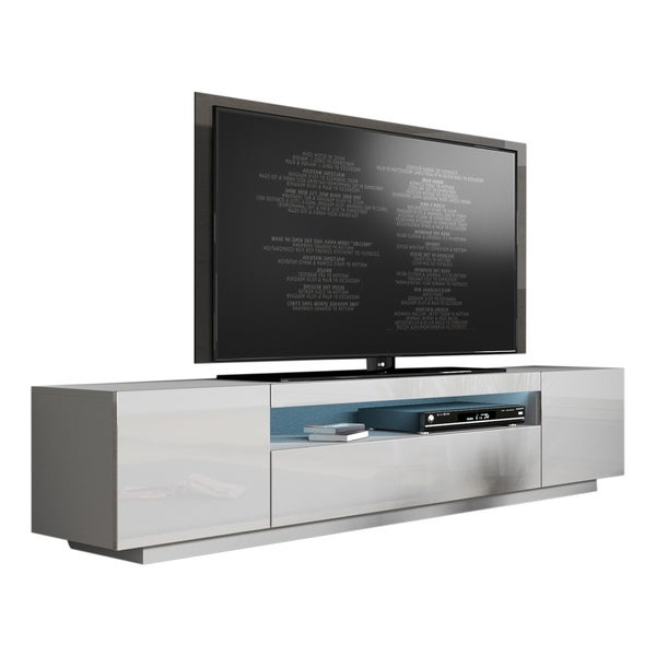"""Shop Miami 200 Modern 79"""" Tv Stand High Gloss Fronts With Intended For Tv Stands High Gloss Front (View 6 of 17)"""