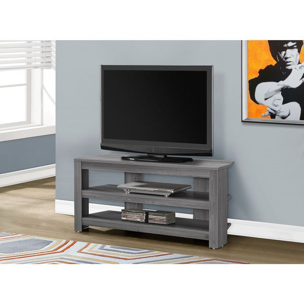 """Shop Tv Stand 42""""l/grey Corner – Free Shipping Today For Stuart Geometric Corner Fit Glass Door Tv Stands (View 6 of 17)"""