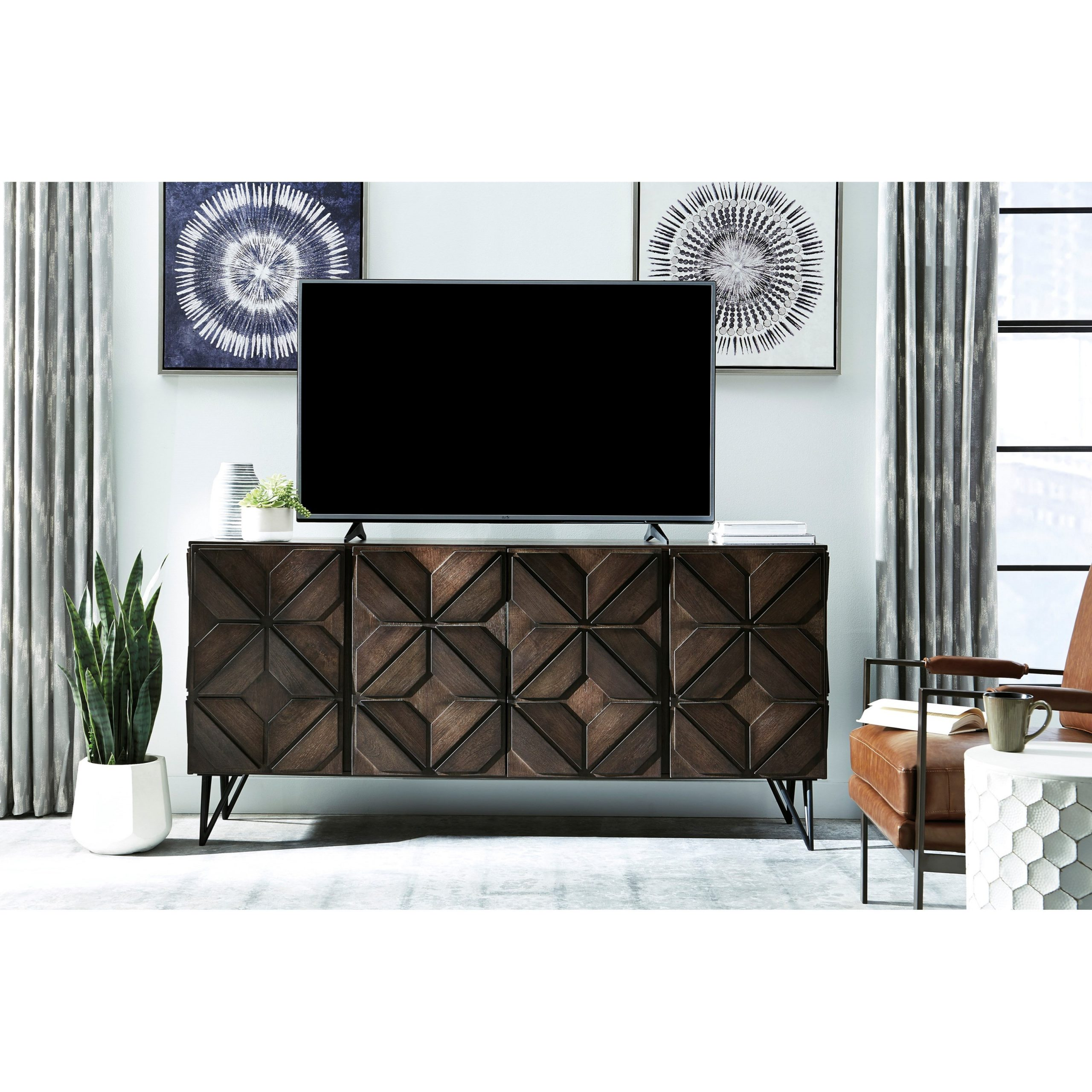 Signature Designashley Chasinfield Contemporary Mango Inside Large Tv Stands (View 2 of 15)