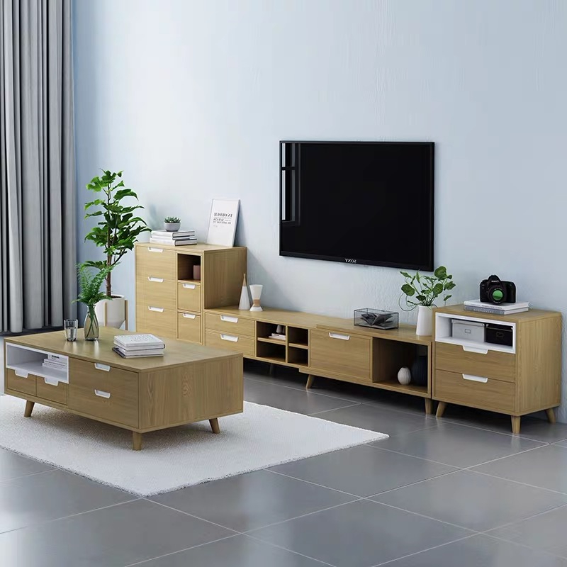 Simple Design Modern Designer Nordic Style Wooden Tv Table Throughout Covent Tv Stands (View 8 of 16)