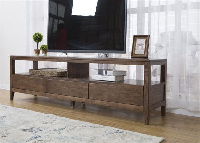 Simple Solid Oak Wood 42 Inch Living Room Tv Stand Unit Regarding Simple Tv Stands (View 14 of 16)