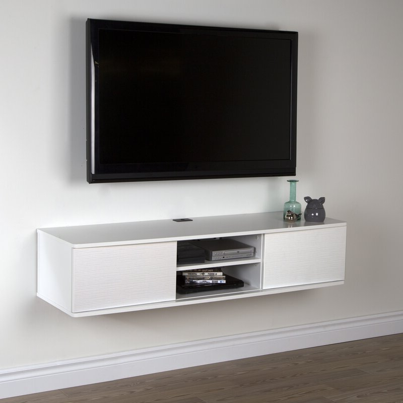 """South Shore Agora Floating Tv Stand For Tvs Up To 65 Inside Wall Mounted Floating 63"""" Tv Stands (View 7 of 27)"""