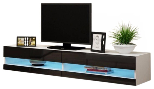 """Vigo 180 Led Wall Mounted Floating Tv Stands Fits 80"""" Tv Throughout Bari 160 Wall Mounted Floating 63"""" Tv Stands (View 18 of 27)"""