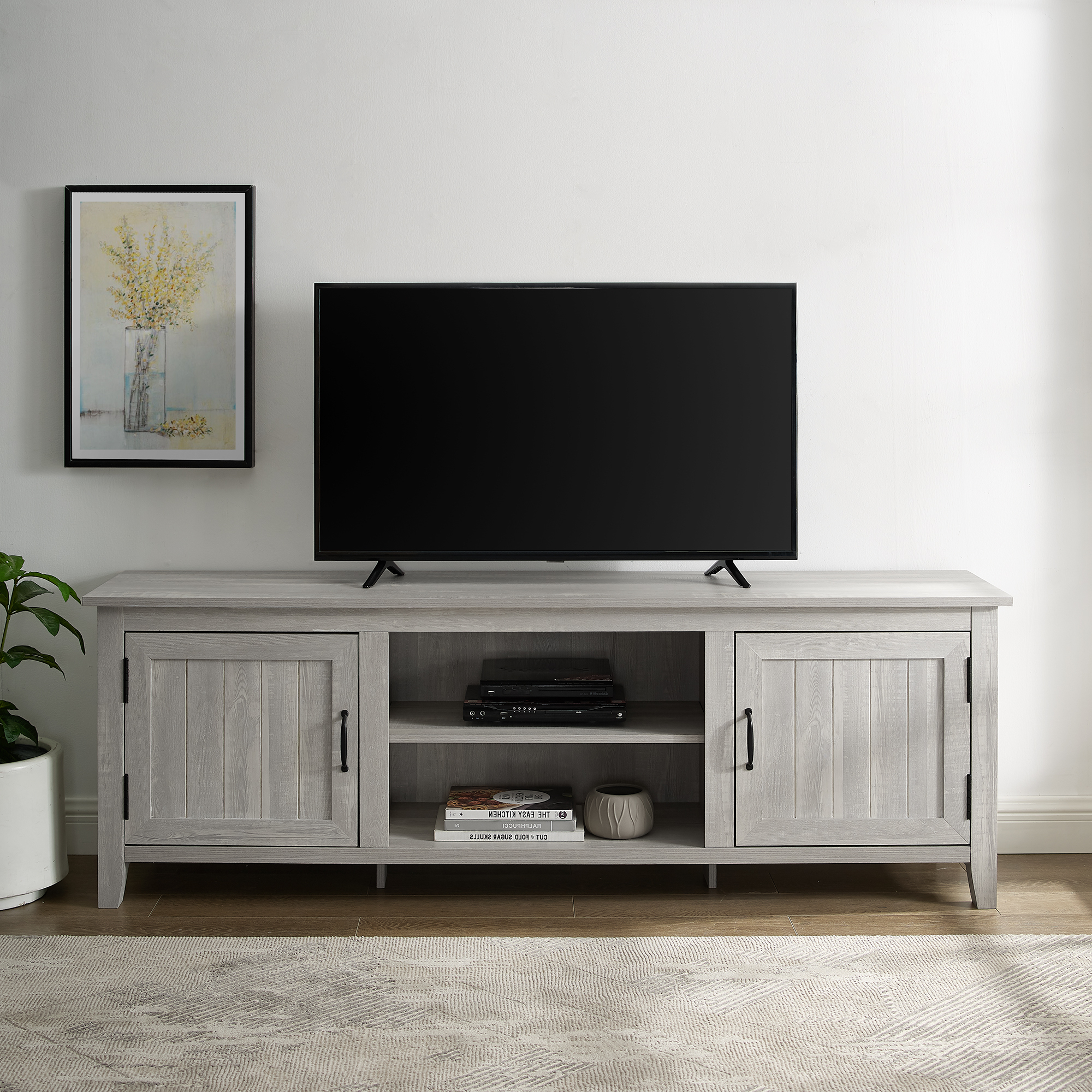 """Walker Edison Furniture Company 70"""" Modern Farmhouse Wood Within Modern Farmhouse Tv Stands (View 10 of 31)"""