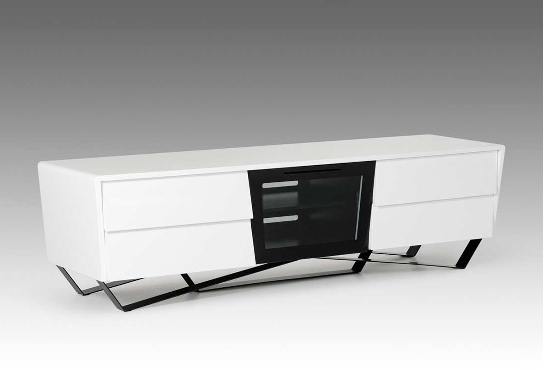 White High Gloss Tv Stand Vg 102   Tv Stands Regarding Tv Stands High Gloss Front (View 8 of 17)