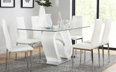 White Dining Tables and 6 Chairs