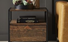 Corey Rustic Brown Accent Tables