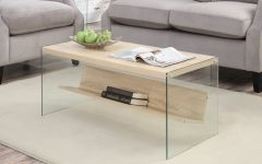 Porch & Den Urqhuart Wood Glass Coffee Tables