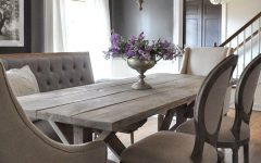Bale Rustic Grey 6 Piece Dining Sets With Pearson Grey Side Chairs
