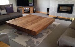 Large Low Oak Coffee Tables