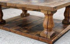 Rustic Coffee Tables With Bottom Shelf