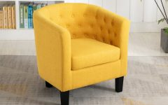 Alwillie Tufted Back Barrel Chairs