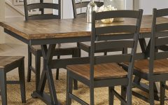 Babbie Butterfly Leaf Pine Solid Wood Trestle Dining Tables