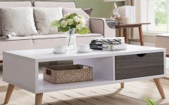 Arella Ii Modern Distressed Grey White Coffee Tables