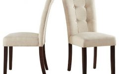 Armless Oatmeal Dining Chairs
